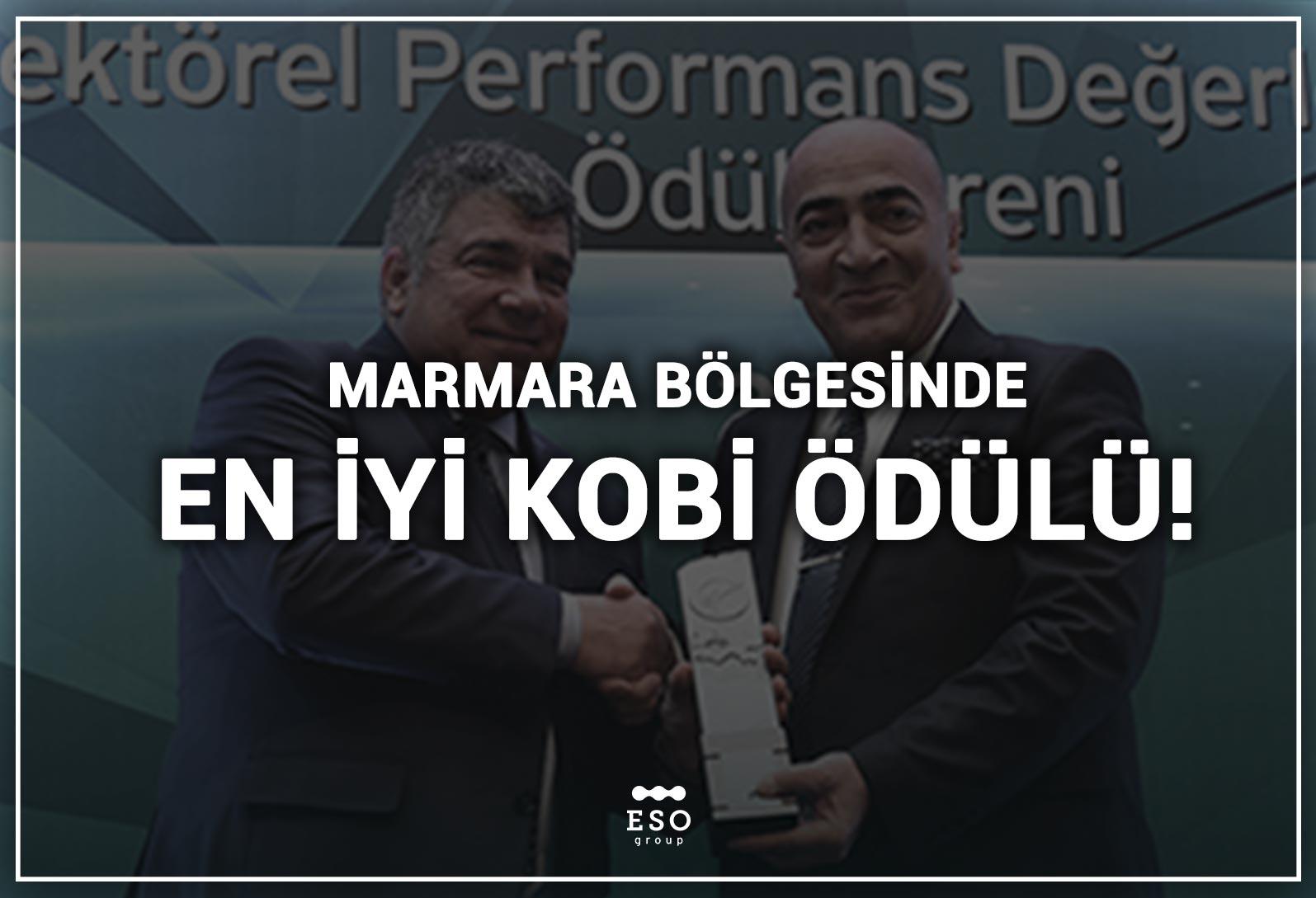 Marmara Bölgesinde 2019 Yılı, Sektöründe En İyi Kobi Ödülü