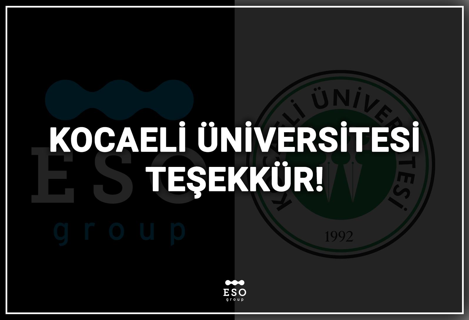 Kocaeli Üniversitesi Teşekkür